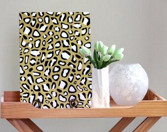 A3 gold leopard print