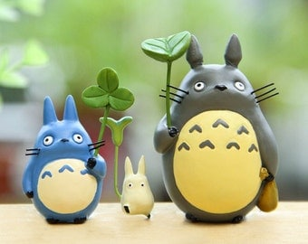 1 Full Fairy Garden Resin Miniature Cute Luminous My Neighbor Totoro Accessories Terrarium decoration