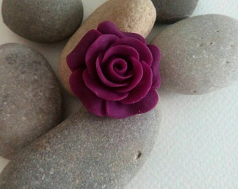 Rose Brooch, Rose Brooch Pin, Purple Rose, Vintage Style Accessories, Brooches