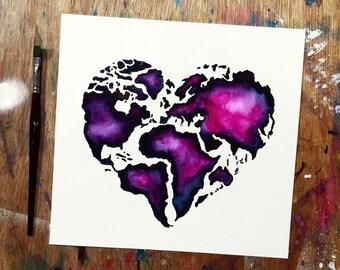 Love the World Print
