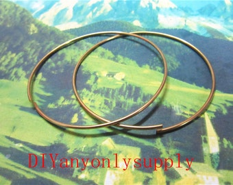 10pieces 1.5mm Thickness/65mm gold bangle bracelets wire--size adjustable