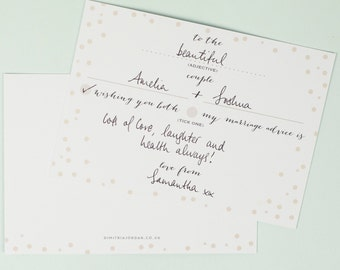 Wedding Advice Cards - Polka Dot Design