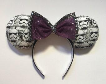 Storm Trooper ears headband