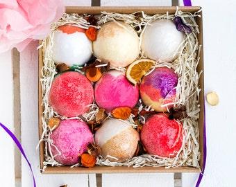 Bath Bomb Gift Box - 9 Rituals - Hamper Pamper Gift - Spa Set - Gift For Her - Gift for mum - Birthday - Birthday Gift - Vegan - Bath Soak