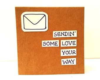 Sending love your way card / sending love card / just because card / best wishes