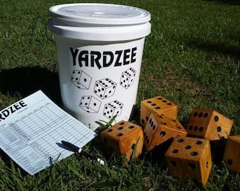 Giant Yardzee - Farkle - Cootie - Lawn Yahtzee - Yard Yahtzee - Family Games - Father's Day - Gift For Dad - Weddings - Outdoor Yard Dice
