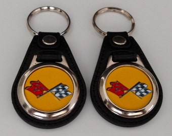 CORVETTE C3 KEYCHAIN 2 pack yellow
