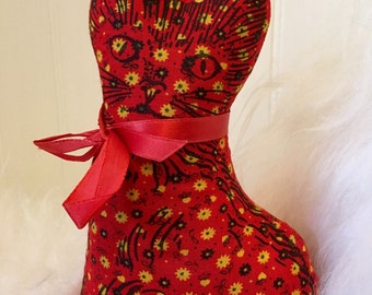Remember these? Sweet Red Gingham Kitten Balsam Pillow from Maine.