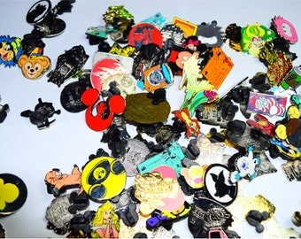 100 Bulk Disney Trading Pin Lot Disneyland Disneyworld of Randomly Selected Pins (no duplicates)