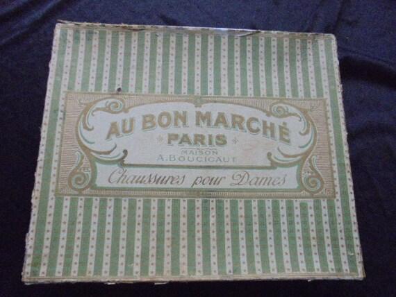 vintage box from fashion house au bon marche