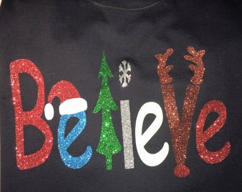 Believe Christmas Shirt - Free Shipping