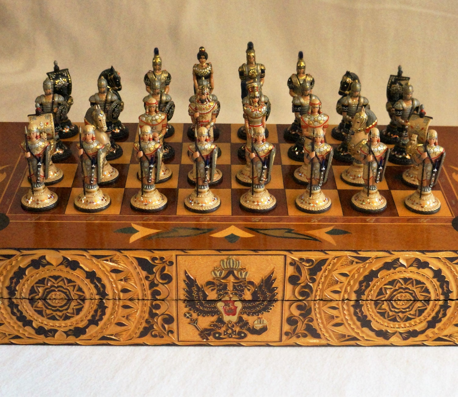 Unique Russian Chess Set By Styleofrussia On Etsy