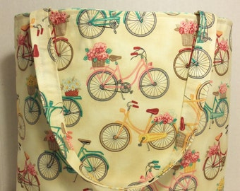 Bicycle Tote Bag, Bicycle Purse