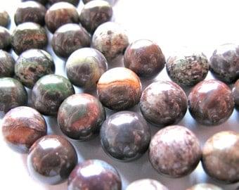Rainforest Jasper, 19 beads, 10mm - #337