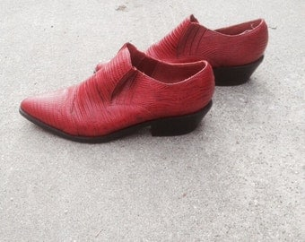 Vintage Red Cowboy Western Booties 7.5