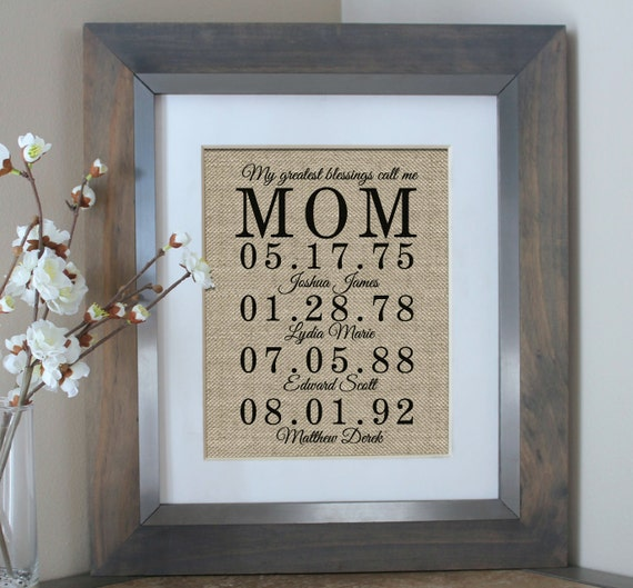 Personalized Mother 39 S Day Gift Gift For Mom By Emmaandthebean