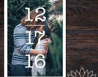 Numbers Save the Date Printable File