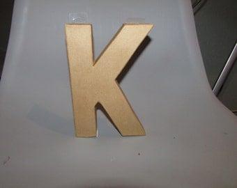 blank 8' paper mache letter K