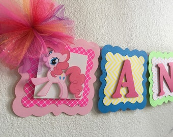 My little pony birthday banner (name and age included!!!)