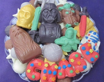 Star Dark Wars small chocolate candy tray