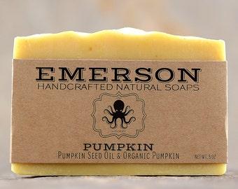 100% Natural Pumpkin Soap with Organic Pumpkin Seed Oil • Unscented Palm-Free Vegan Soap, Sensitive Skin, Handmade Soap
