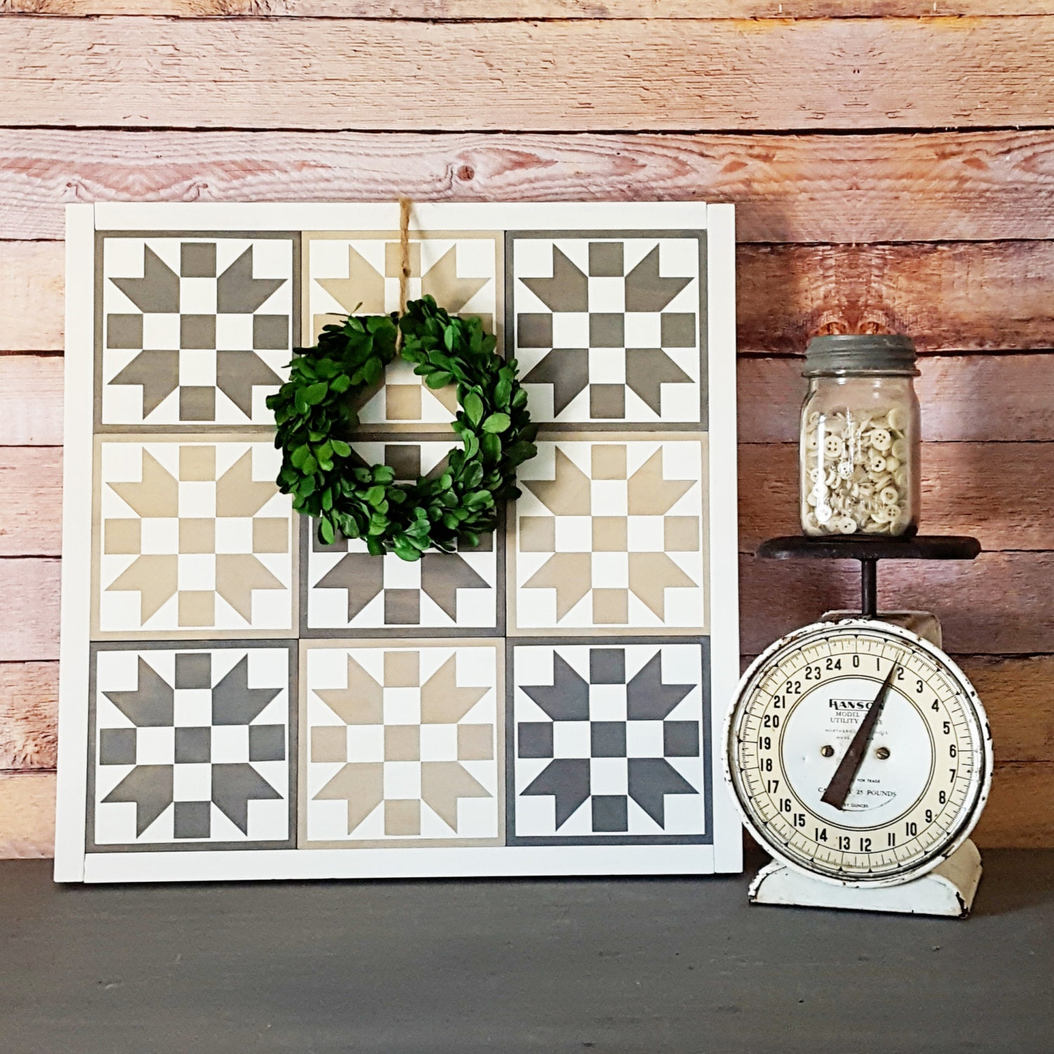 Painted Wood Quilt Squares / Blocks / Granny by TheWoodenTriangle