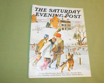 Winter 1971 Saturday Evening Post  Cover by J. Falter - Cover Only