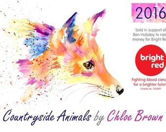 Countyside animal Calendar 2016 - supporting Ben Hobdays chosen Charity
