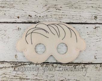 Linus Children's Felt Mask  - Costume - Theater - Dress Up - Halloween - Face Mask - Pretend Play - Party Favor
