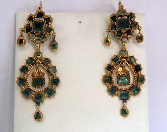 Spanish ancient  earrings ,early 19th