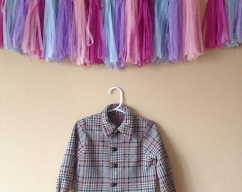 Vintage 70s plaid jacket