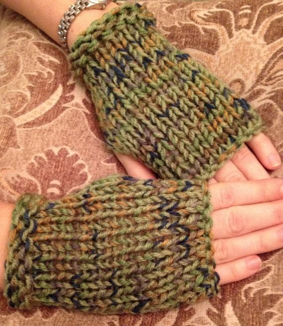 Fingerless gloves short texting gloves soft knit mittens
