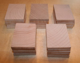 "Unfinished Wood Rectangle Cutout 2-1/4"""" x 1-1/2"""" x 3/16"""