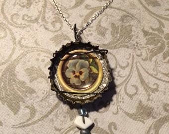 Bottle Cap Pendant Necklace