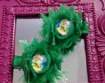 Tinkerbell Inspired Hair Clip Set