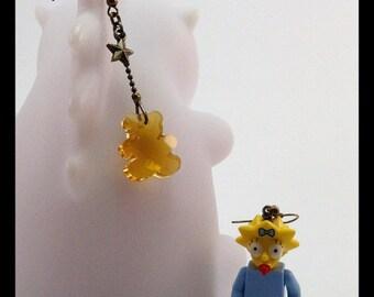 Maggie Simpson earrings