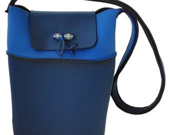 Neoprene bag blue