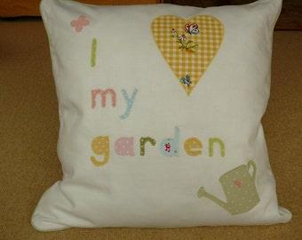 I' love my garden' cushion