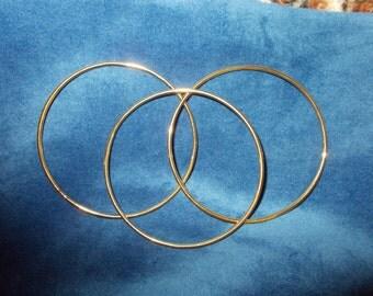 Three vintage gold filled bangle bracelets