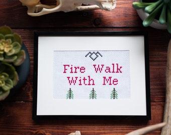 Twin Peaks Fire Walk With Me Cross Stitch