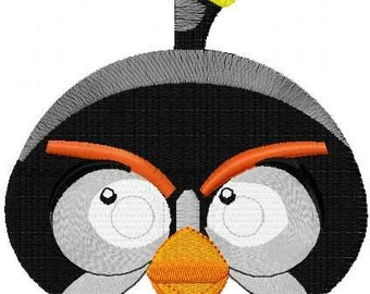 Angry Birds machine embroidery collection Bomb embroidery design