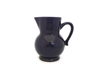 Emile Henry France dark blue pitcher 0.5 L French country decor