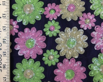 "60""wide floral sequined BLACK mesh"