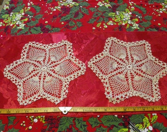 Set of 2 Vintage Doilies