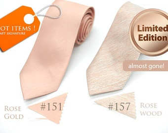 No#151,#157, semi shiny copper rosegold rosewood texture nude neutral tan champagne,neutral ties,groomsmen,men,nude rosegold wedding