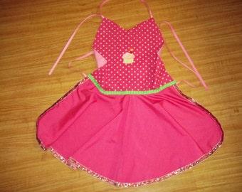 Adult apron-pink