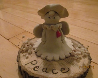 Peace Angel Polymer Clay figurine
