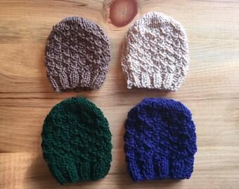 Knit Baby Beanie, Knit Baby Hat, Baby Boy Gift, Baby Shower Present