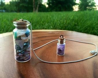 Fairy bottle necklace