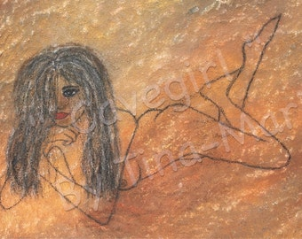 Cavegirl - Giclee Print